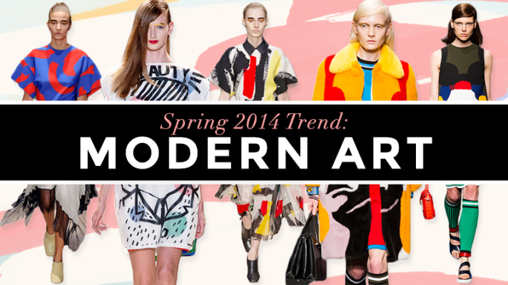 Shake Up Your Closet With Spring's Bold Modern Art Trend