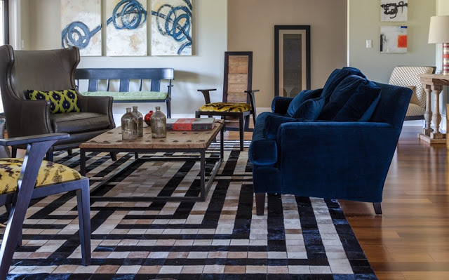 valorie hart navy blue couch