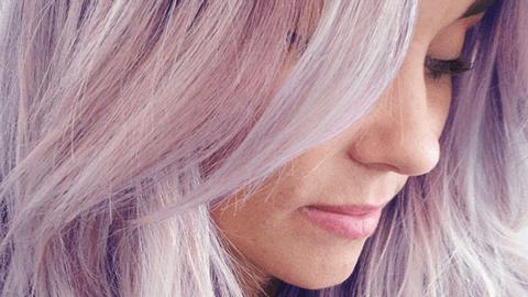 Lauren Conrad Debuts Purple Hair   StyleCaster