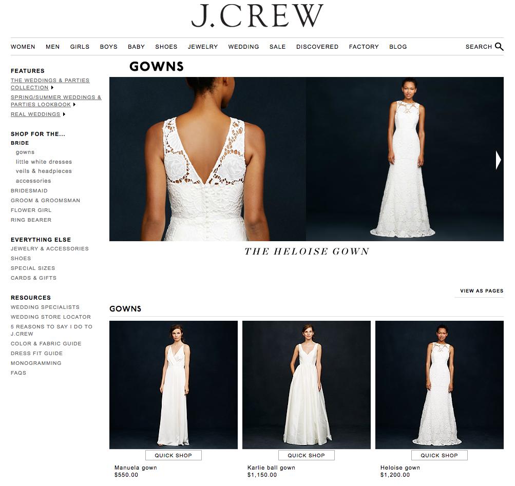 jcrew bridal