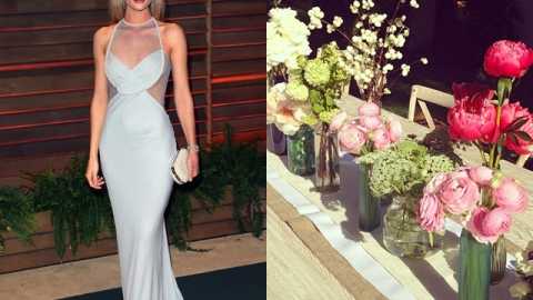 DIY Rosie Huntington-Whiteley's Gorgeous Floral Tablescape   StyleCaster