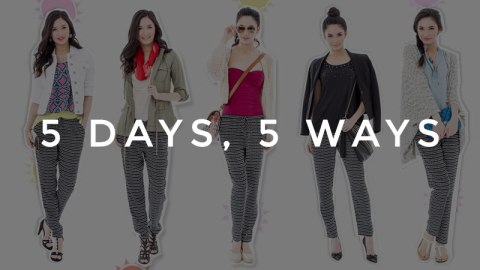 5 Days, 5 Ways: Printed Pants | StyleCaster
