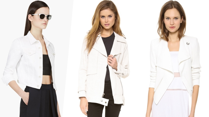 13 Ultra-Chic White Jackets You Need This Spring