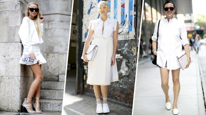 25 Chic All-White Street Style Outfits (Happy Memorial Day!)