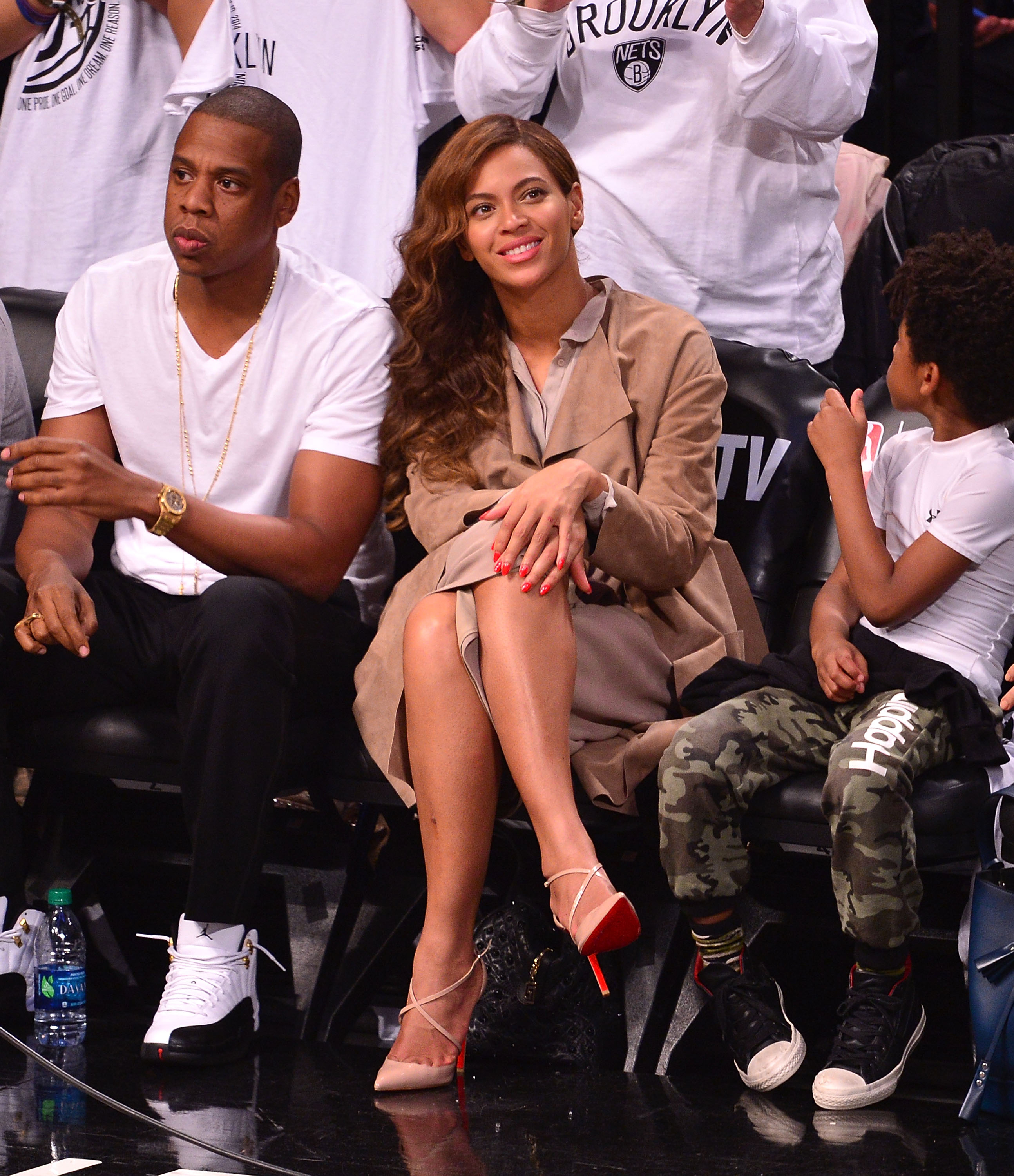 Celebrites Attend The Miami Heat Vs Brooklyn Nets Game - May 10, 2014