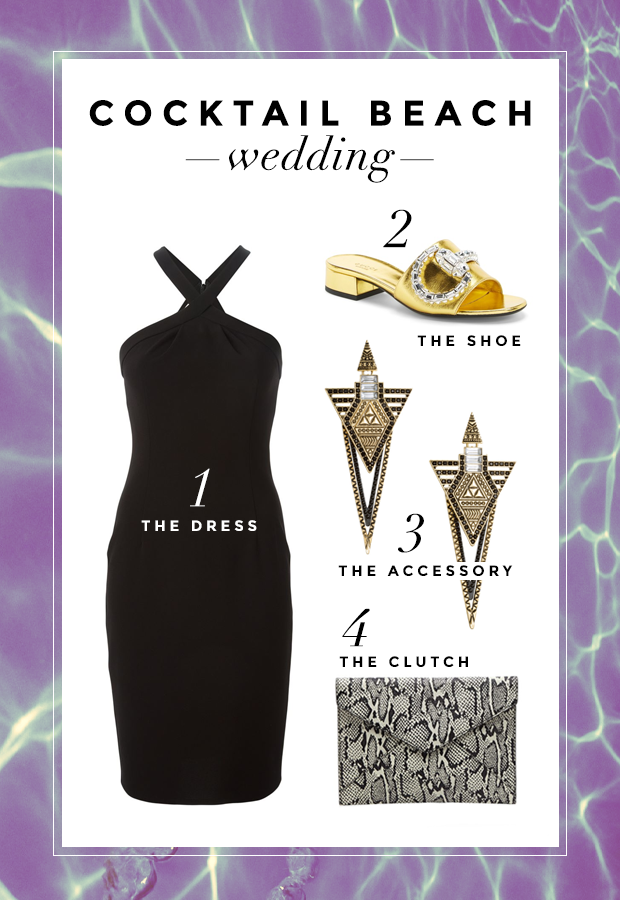 cocktail beach wedding What to Wear to a Beach Wedding: Three Perfect Outfit Ideas