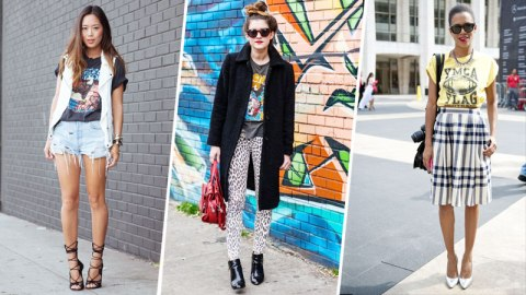 21 Ways to Wear a Vintage Tee | StyleCaster