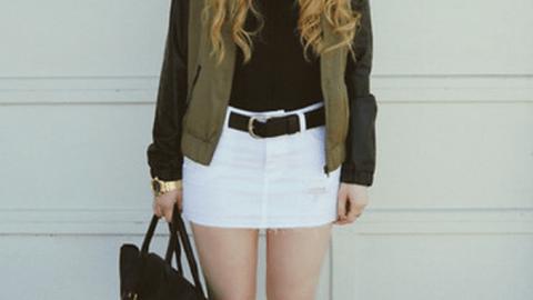 The White Denim Skirt Is Back | StyleCaster