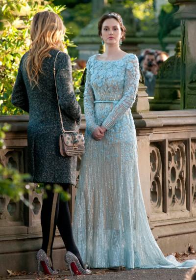 Gossip Girl blue wedding dress