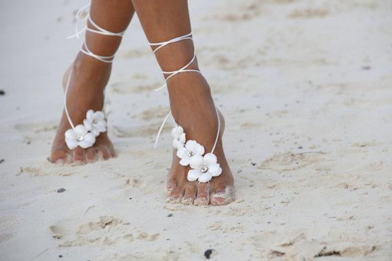 barefoot beach wedding sandals stylecaster