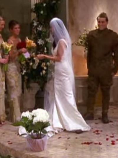 Monica and Chandler wedding