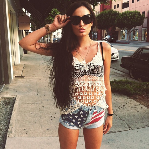 american flag denim shorts sexy hipster blogger coachella festivals