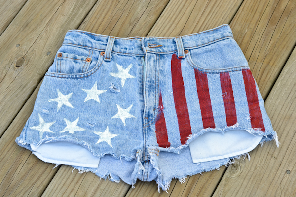 american flag shorts DIY fashion sexy bloggers patriotic