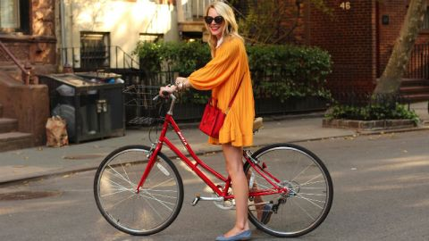 The Genius Trick to Biking in a Skirt | StyleCaster