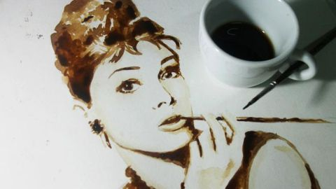 Celebrity Portraits Painted With Coffee | StyleCaster