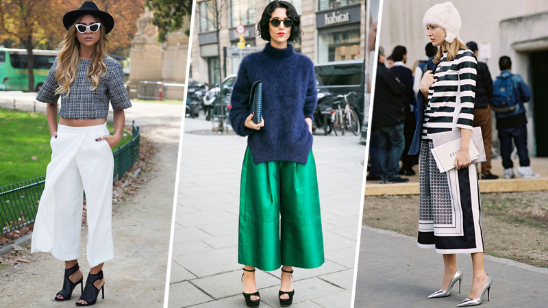 how to wear culottes gaucho pants street style