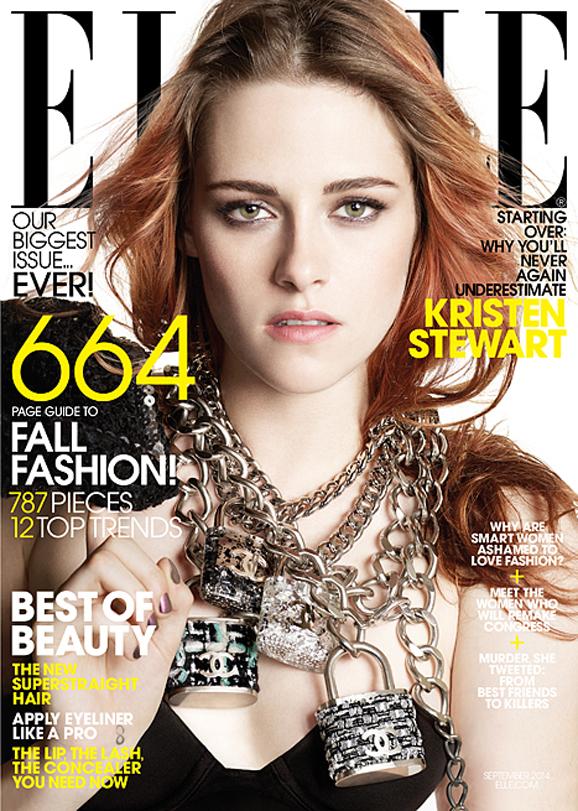 kristen stewart elle cover lg Finally! Kristen Stewart Reveals Why She Never Smiles in Photos