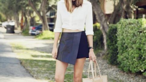 30 Ways to Style a Black Leather Skirt | StyleCaster