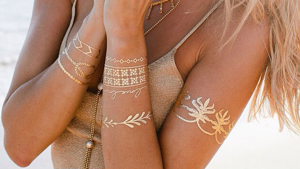 16 Ways To Rock Flash Tattoos (the Temporary Ink Everyone's Wearing)