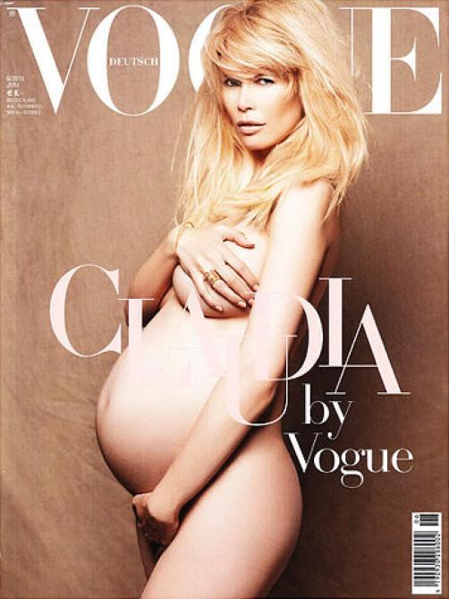 naked models celebrities pregnant