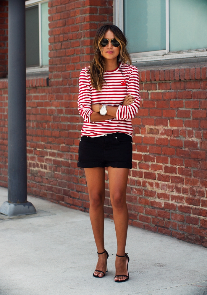 commes des garcon striped shirt