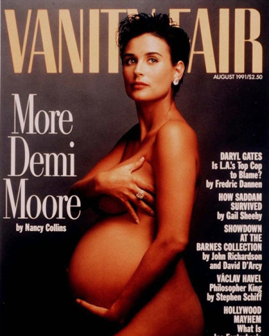 demi moore naked Celebrities Who Posed Naked and Pregnant