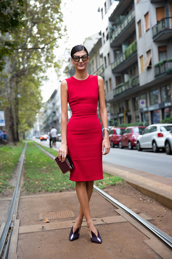 MFW-Milan_Fashion_Week_Spring_Summer_2014-Street_Style-Say_Cheese-Collage_Vintage-Giovanna_Battaglia-Red_Dress--2