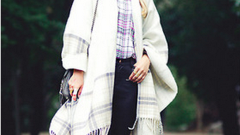 25 Chic Ways to Style a Cape  | StyleCaster