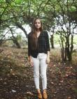 How to Wear White Jeans in the Fall