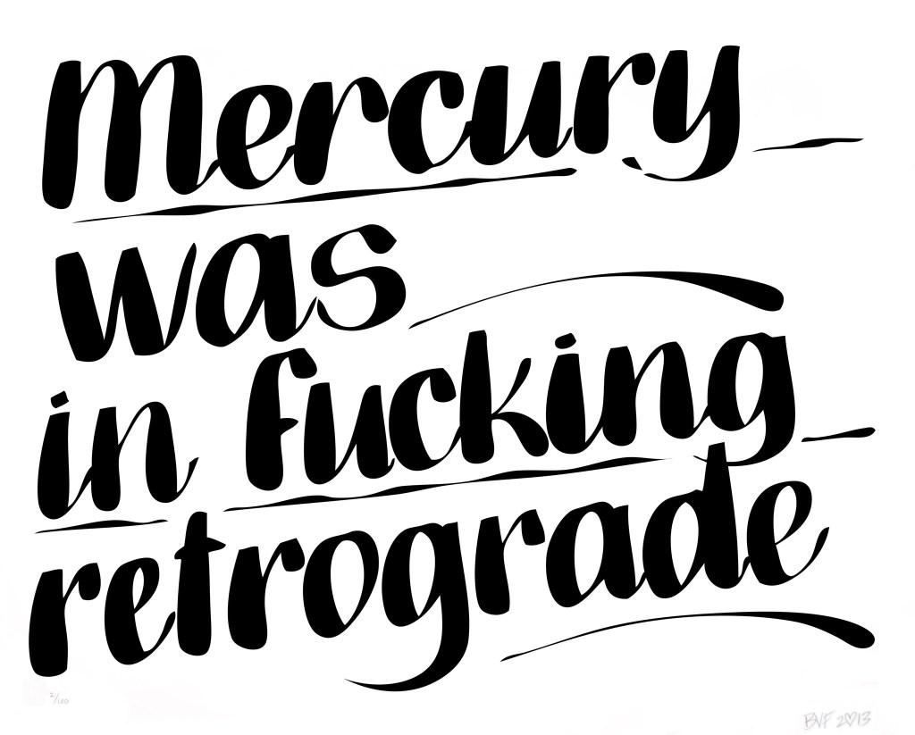 Baron Von Fancy mercury retrograde