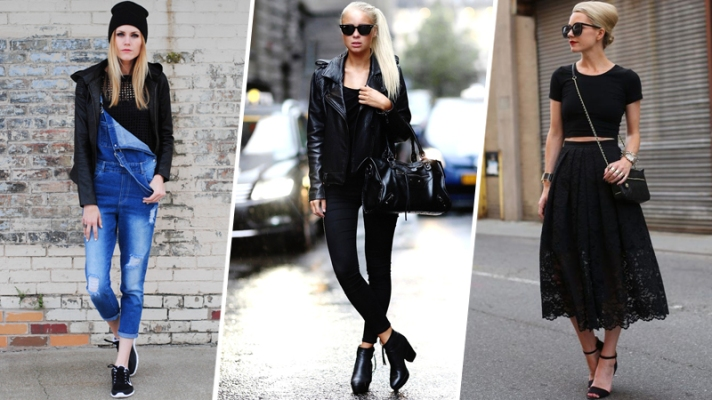 7 Very Different Ways To Style a Plain Black T-Shirt