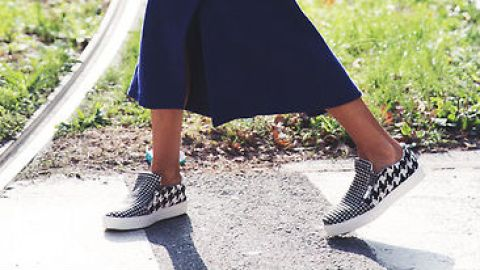 How to Pull off Skirts and Sneakers   StyleCaster