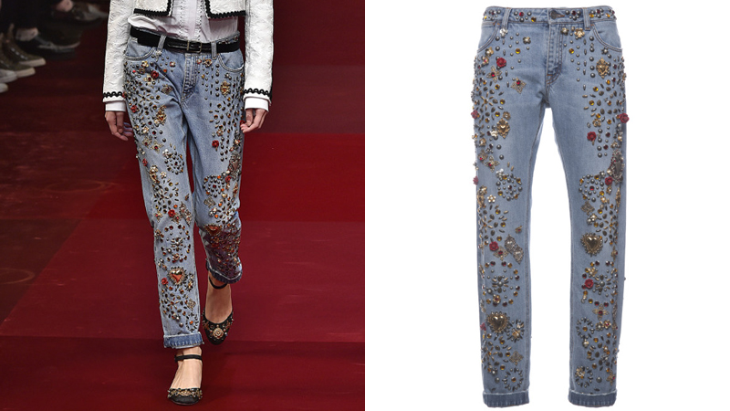 dolcejeans Totally Normal: Dolce & Gabbanas Embellished Jeans Cost $12,500