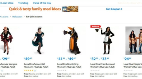 Yikes: Walmart Has 'Fat Girls Costumes' | StyleCaster