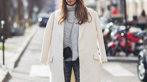 White Coats are Trending This Fall | StyleCaster