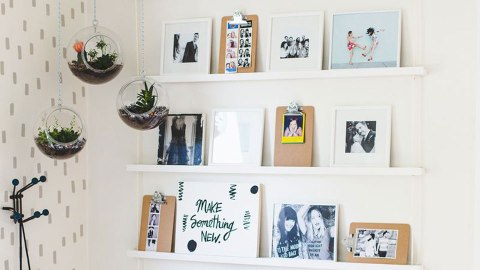 17 Clever, Trendy Ways to Hang Photos Up on Your Wall | StyleCaster