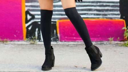 How 20 Fashion Girls Wear Knee-High Socks