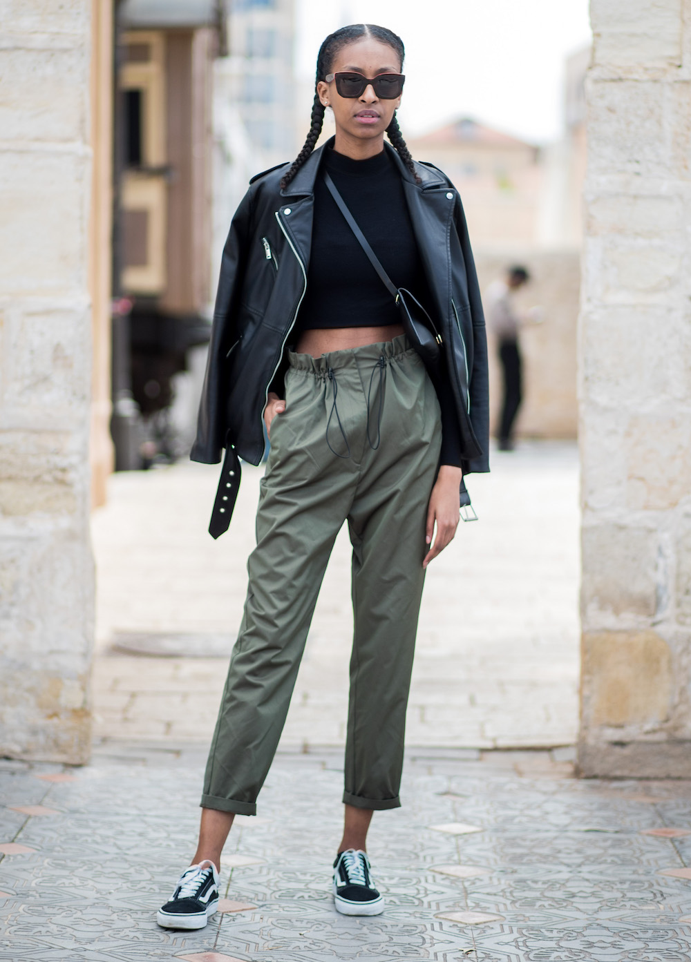 guest is seen during Tel Aviv Fashion Week