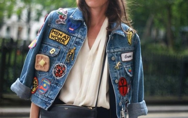 How to DIY a Denim Jacket Covered in Patches