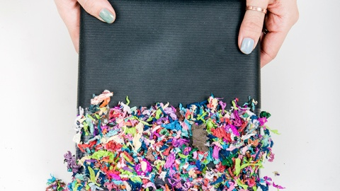 DIY Confetti Dipped Presents  | StyleCaster