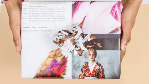 DIY Magazine Wrapped Gift | StyleCaster
