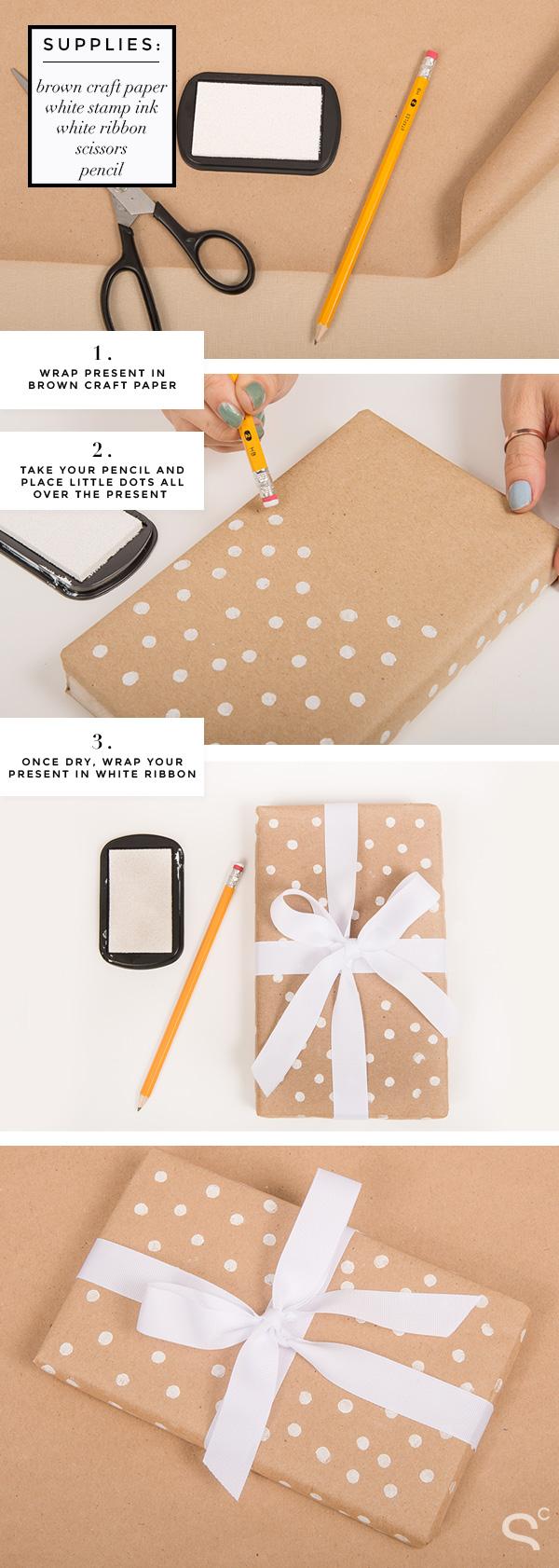 DIY-Gift-Wrapping-Ideas-Polka-Dot