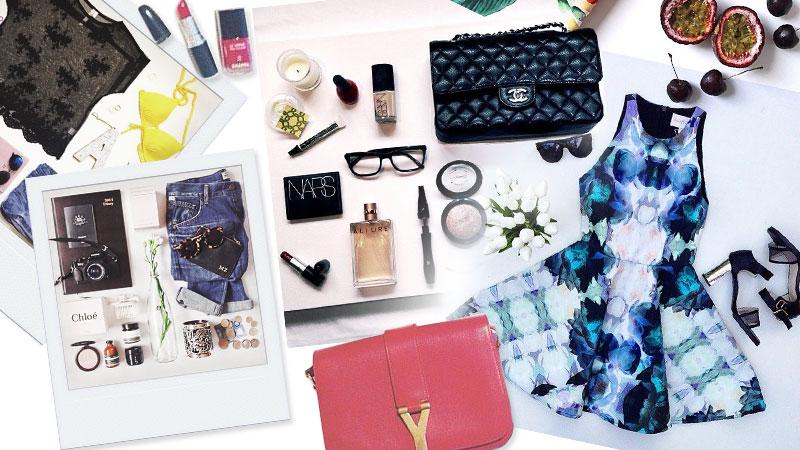 packing tips fashion flat lay