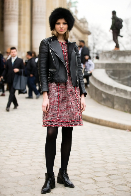 PARIS, FRANCE - MARCH 10: Model Sasha Luss exits the Chanel show at Grand Palais on Day 8 of Paris Fashion Week FW15 on March 10, 2015 in Paris, France. (Photo by Melodie Jeng/Getty Images)