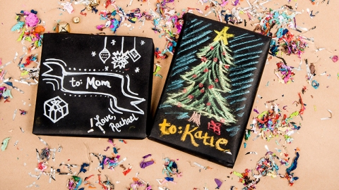 DIY Chalkboard Wrapping Paper | StyleCaster