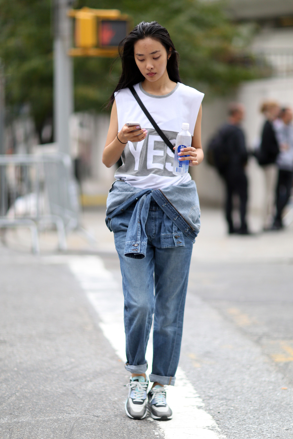 Model in casual outfit.