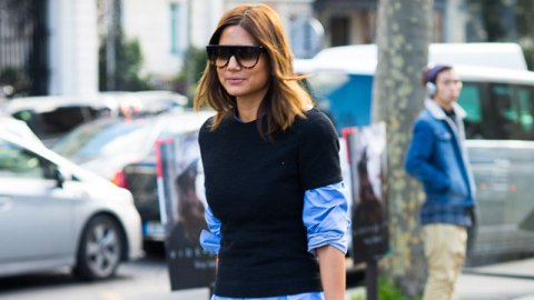 Try This: A Tee Over Your Blouse | StyleCaster