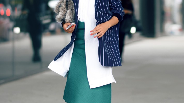 30 Blogger Outfits That Prove Pinstripes Are Back