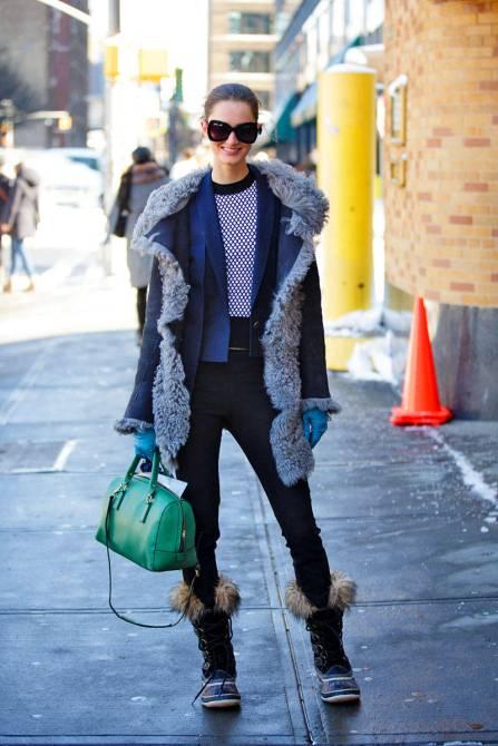 elle 08 fashion week fall 2013 street style saturday 0209 xln xln 20 Ways to Look Stylish in Winter Boots