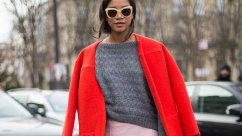 Try This: Mixing Bright Red and Pink   StyleCaster